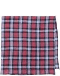 Red Plaid Pocket Square