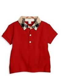 Burberry Babys Check Trim Polo Shirt