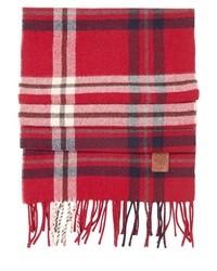 DSquared Tartan Wool Fringed Scarf