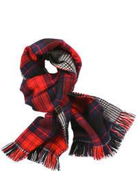 Joe Fresh Long Plaid Mix Scarf Navy