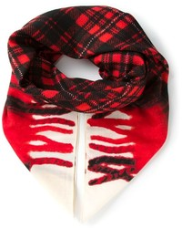 Plaid print scarf medium 182306