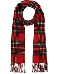 Plaid wool scarf medium 6860298