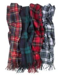 Ralph Lauren Polo Scarf Wool Blend Plaid