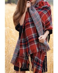 Reversible plaid scarf medium 372084