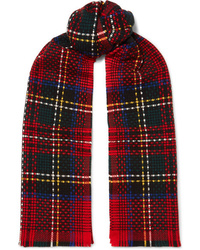 Johnstons of Elgin Tartan Basketweave Cashmere Scarf