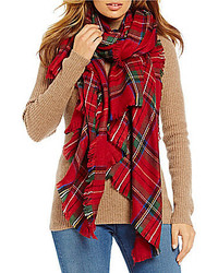Fraas V Tartan Plaid Fringe Blanket Wrap