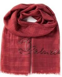Vintage sequin logo patterned scarf medium 80884