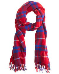 Wool plaid scarf medium 152001