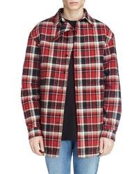 Balenciaga Plaid Cotton Shirt Jacket
