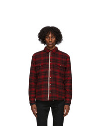 Saint Laurent Red Plaid Classic Western Jacket