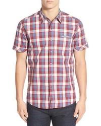 Red Plaid Short Sleeve Shirt