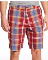 Red Plaid Shorts