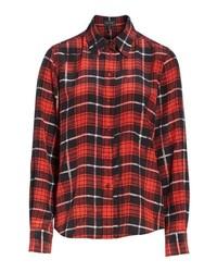 Marc Jacobs Plaid Print Silk Shirt