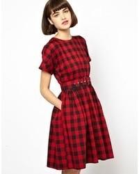 0c98dae736 Red Plaid Skater Dresses for Women