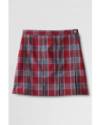 Lands' End Plaid Box Pleat Skirt