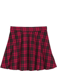 H&M Pleated Skirt Redchecked Ladies