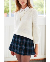 Urban Outfitters Ecote Plaid Inverted Pleat Mini Skirt | Where to ...