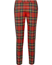 Plaid wool tapered pants medium 177835