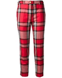 Red label tartan trousers medium 1360554
