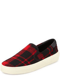 Saint Laurent Plaid Tweed Skate Shoe