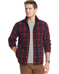 Izod Plaid Polar Fleece Jacket