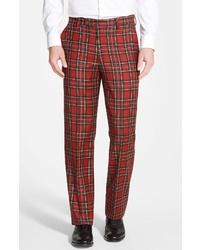 Berle Plaid Wool Trousers