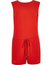 River Island Bright Red Romper Romper