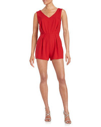 Lord & Taylor Design Lab Pleated Crepe Romper