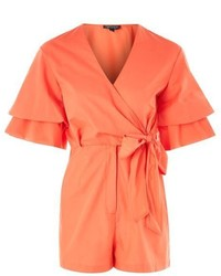 Drama Sleeve Poplin Playsuit