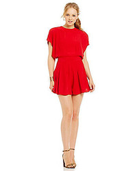 C/Meo Night Air Cap Sleeve Back Bow Romper