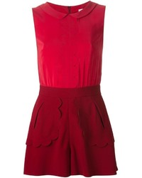 RED Valentino Scalloped Detail Playsuit