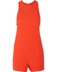 Alexander Wang T By Layered Stretch Crepe Playsuit