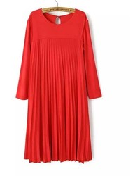 ChicNova Long Sleeves Pleated Dress