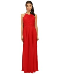 rsvp Maya Pleated Halter Gown