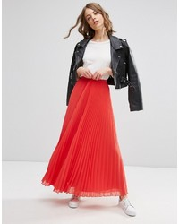 Asos Collection Pleated Maxi Skirt