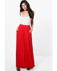 Boohoo Farrah Pocket Front Jersey Maxi Skirt