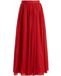 Three Graces London Arlene Panelled Ramie Maxi Skirt