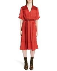 Chloé Crepe Midi Dress