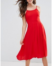 e5585cd5b288 Boohoo Pleat Detail Midi Skater Dress, $30 | Asos | Lookastic.com