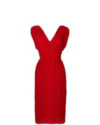 P.A.R.O.S.H. Pleated V Neck Dress