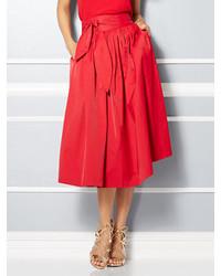New York & Co. Eva Des Collection Mari Tie Waist Midi Skirt