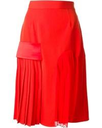 Givenchy Banded Midi Skirt