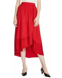 Maje Jonette Faux Wrap Midi Skirt