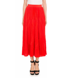 Givenchy Pleated Lace Midi Skirt