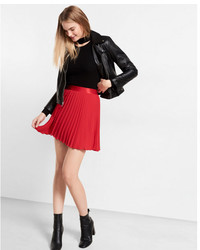 Express High Waisted Pleated Mini Skirt