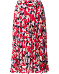 No.21 No21 Pleated Patterned Skirt