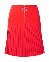 Givenchy Pleated Med Wool Mini Skirt