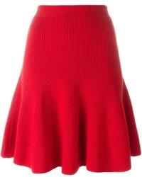 Alexander McQueen Pleated Knit Skirt
