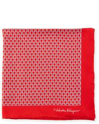 Gancini loop pocket square red medium 833844