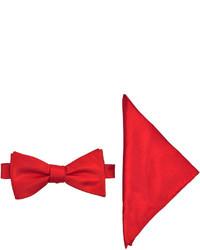 JF J.Ferrar Jf J Ferrar Pre Tied Bow Tie With Pocket Square